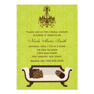 Chic Bridal Shower 13 Cm X 18 Cm Invitation Card