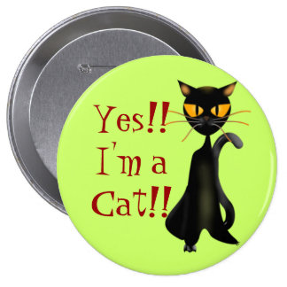 Chic Cat Buttons