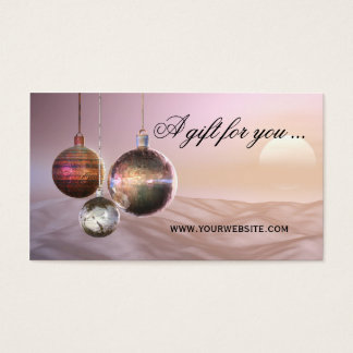 Chic Christmas Gift Certificate Template