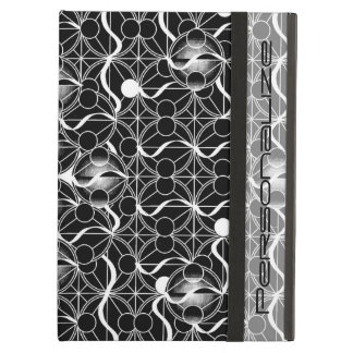 Chic Classy Abstract Black and White Pattern Case For iPad Air