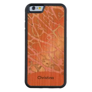 Chic Custom Handmade Warm Tangerine Pink Patterns Cherry iPhone 6 Bumper Case