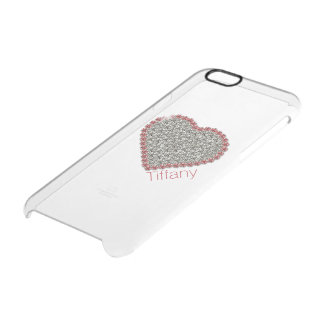 Chic Diamond Heart Custom Clear iPhone 6 Case