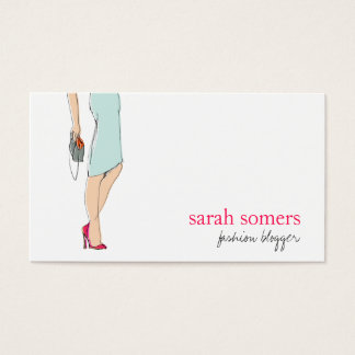 Chic, Fashion Blogger, Stylish Fashion Model Business Card