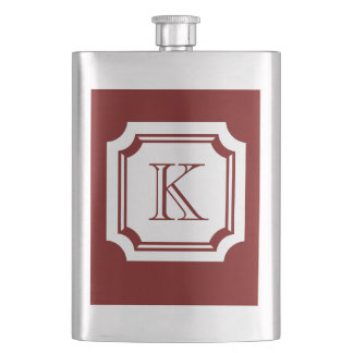 CHIC FLASK_18 RED CLASSIC MONOGRAM HIP FLASK