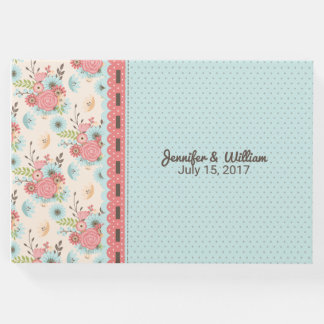 Chic Floral and Polka Dot Wedding Guest Book