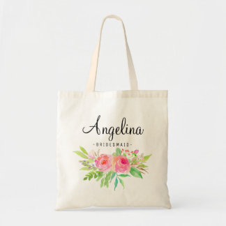 Chic Floral Bridesmaid Personalized-6
