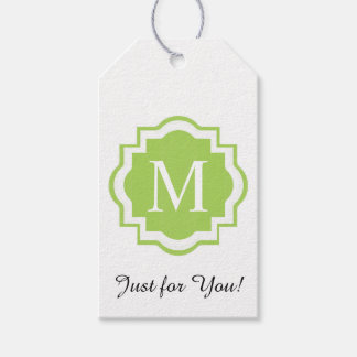 """CHIC GIFT TAG_""""JUST FOR YOU"""" MONOGRAM GIFT TAGS"""