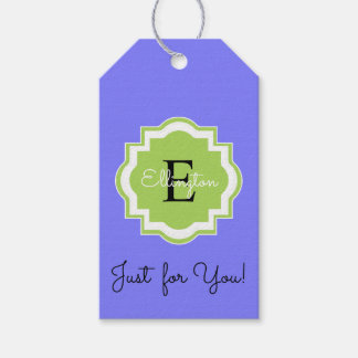 """CHIC GIFT TAG_""""Just for You!"""" MONOGRAM TAG"""