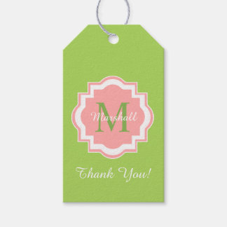 """CHIC GIFT TAG_""""Thank You!"""" MONOGRAM Gift Tags"""