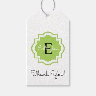 "CHIC GIFT TAG_""Thank You!"" MONOGRAM TAG"