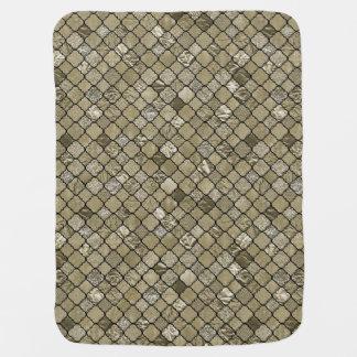 Chic Gold Quatrefoil Foil Glitter Baby Blanket