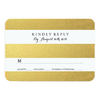 CHIC GOLD RSVP CARDS