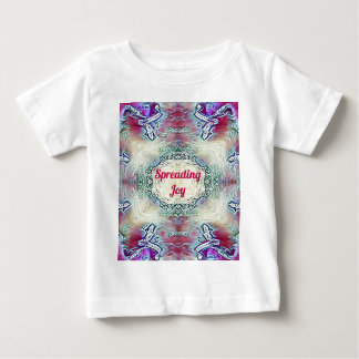 Chic Holiday Season Burgundy Spreading Joy Baby T-Shirt