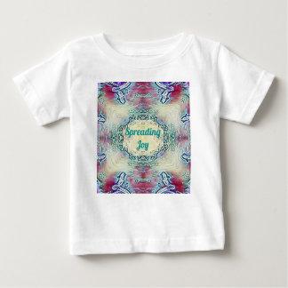 Chic Holiday Season Green 'Spreading Joy' Baby T-Shirt
