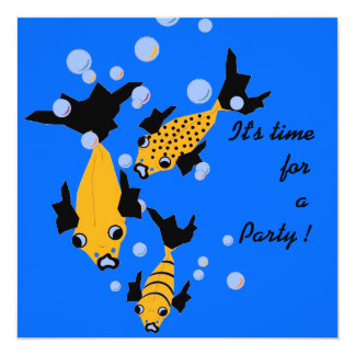 CHIC INVITATION_ YELLOW FISH_ PARTY INVITE