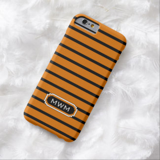 CHIC IPHONE 6 CASE_32 ORANGE/BLACK/WHITE BARELY THERE iPhone 6 CASE