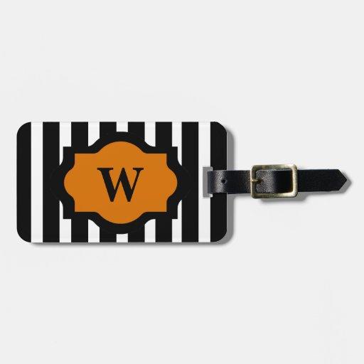 CHIC LUGGAGE/BAG TAG_32 ORANGE/BLACK/ WHITE TAGS FOR LUGGAGE