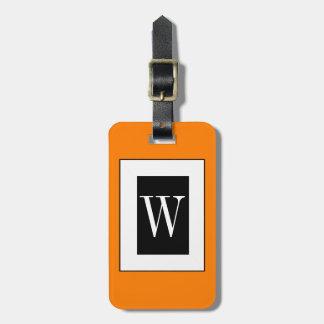 CHIC LUGGAGE TAG_32 ORANGE/BLACK/WHITE LUGGAGE TAG