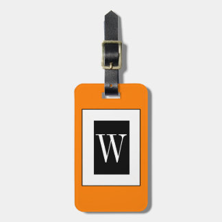 CHIC LUGGAGE TAG_32 ORANGE/BLACK/WHITE TAGS FOR BAGS