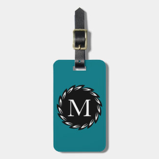 CHIC LUGGAGE TAG_WHITE WHEAT/BLACK/TEAL LUGGAGE TAG