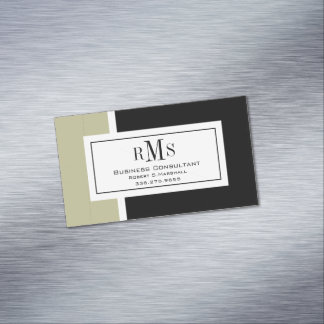 CHIC MAGNETIC BUSINESS CARD_BLACK/WHITE/STONE MAGNETIC BUSINESS CARDS