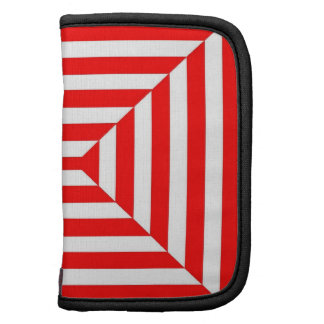 CHIC MINI FOLIO_01 REDWHITE STRIPES ORGANIZER