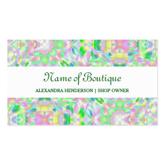 Chic Modern Pastel Abstract Floral Boutique Pack Of Standard Business Cards