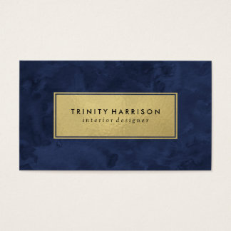Chic Modern Watercolor | Navy Blue and Gold