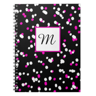 CHIC NOTEBOOK- WHITE/PINK DOTS OF LIGHT NOTE BOOK