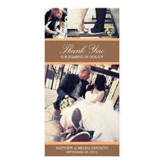 CHIC ORANGE GRATITUDE   WEDDING THANK YOU CARD
