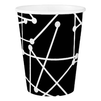 CHIC PAPER CUP_MOD, COOL WHITE GEOMETRIC_DIY PAPER CUP