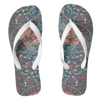 Chic Pastel Floral Swirl Flip Flops Thongs