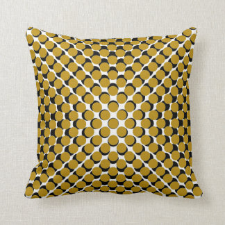 CHIC PILLOW_190 MUSTARD /BLACK MODERN DOT PATTERN CUSHION