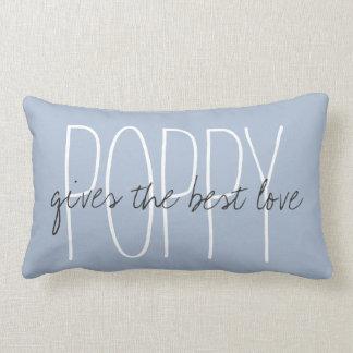 """CHIC PILLOW_""""POPPY...gives the best love.."""" Lumbar Pillow"""