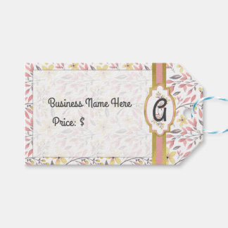 Chic Pink and Yellow Floral Price Tags