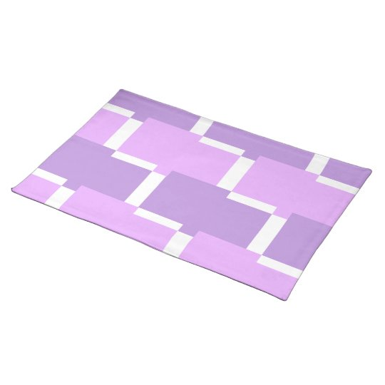 CHIC PLACEMAT_LILAC/PURPLE/WHITE GEOMETRIC PLACEMAT