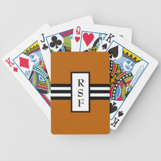 CHIC PLAYING CARDS_ 34 ORANGE/BLACK /WHITE BICYCLE POKER DECK