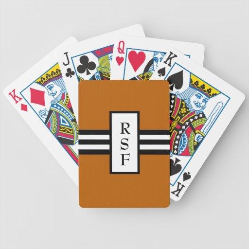CHIC PLAYING CARDS_ 34 ORANGE/BLACK /WHITE POKER DECK