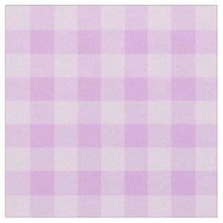 Chic Purple Gingham Plaid Pattern Fabric