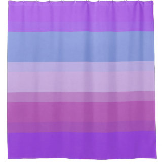 Chic Purple Stripes shower curtain