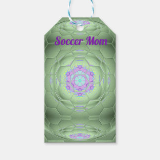 Chic 'Soccer Mom Green Artistic Pattern Gift Tags