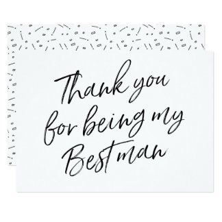 """Chic """"Thank you for being my best man"""" Card"""