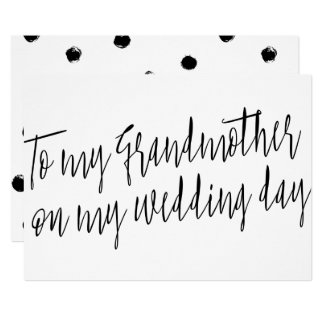 """Chic """"To my grandmother on my wedding day"""" Card"""