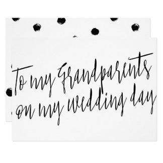 "Chic ""To my grandparents on my wedding day"" 13 Cm X 18 Cm Invitation Card"