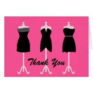 Chic Wedding Bridesmaid's Thank You Card