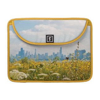 Chicago as seen from Montrose Harbor's bird Sleeve For MacBooks