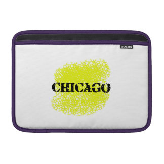 Chicago - Black and Yellow Sleeve For MacBook Air