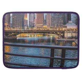 Chicago Bridges & Lights Sleeve For MacBooks