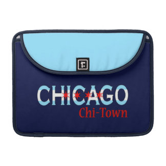 Chicago Chi-Town, Chicago Flag Design Sleeve For MacBooks