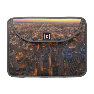 Chicago downtown at sunset sleeve for MacBook pro